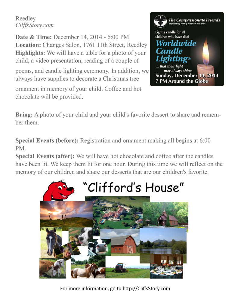 Flier for Candle Lighting Ceremony